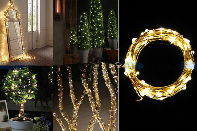 40 LEDs 2M/3M/4M Battery Operated Mini LED Copper Wire String Fairy Light Party