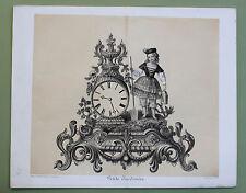 1890 Petite Jardinière Kleine Gärtnerin Garden Uhr Entwurf Horloge Clock Design