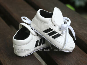 Newborn Baby Boy Girl Crib Shoes Toddler Soft Sole Sneakers 3 6 9 ...