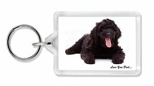 Labradoodle Dog 'Love You Dad' Photo Keyring Animal Gift, DAD-72K