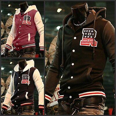 American Style Varsity Letterman College Letter R Baseball Jacket Hoodies Coat