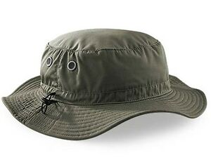 21250854 Details about Mans Mens Sun Shade Summer Wide Brim Bucket Cargo Floppy Hat  Olive Green Khaki