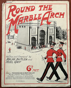 Round-The-Marble-Arch-by-Noel-gay-amp-Ralph-Butler-Vintage-Sheet-Music-1932