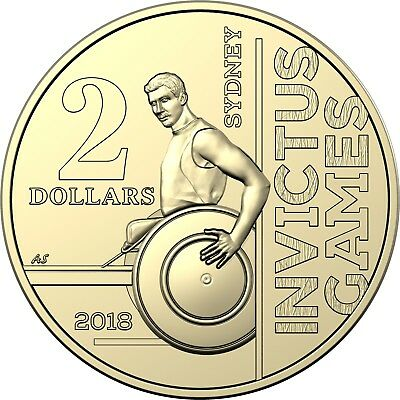 From RAM Mint Roll INVICTUS GAMES 2018 Australia $2 UNC Coin
