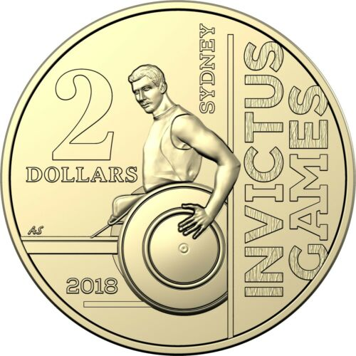 INVICTUS GAMES 2018 Australia $2 UNC Coin From RAM Mint Roll