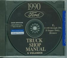 1990 FORD TRUCK SHOP REPAIR MANUAL ON CD-E, F-150 THRU 350, F-SUPER DUTY, BRONCO