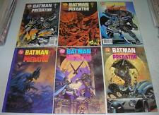 BATMAN VERSUS PREDATOR 1 2 3 PRESTIGE & REGULAR SET (1991) Suydam cvrs (VF-)