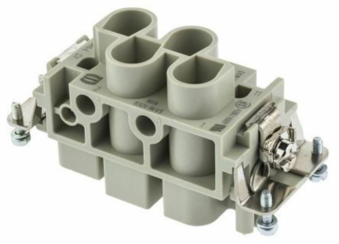 Han K Series size 16 B Connector Insert, Female, 6 Way, 80A, 830 V