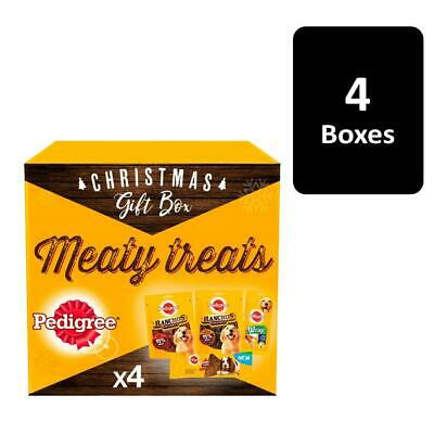 Pedigree Meaty Dog Treats Christmas Gift Box 4 x 278g Dog Xmas Gift Boxes