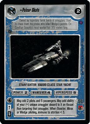 Pulsar Skate FOIL Near Mint REFLECTIONS III star wars ccg swccg
