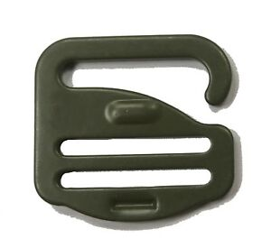 """25mm / 1"""" Forest Green G Hook - Military Specification Buckle  - 70 Kg Strength"""
