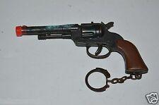 WOW Vintage Metal Cowboy Western Revolver Gun Pistol Shaped Key Chain Rare