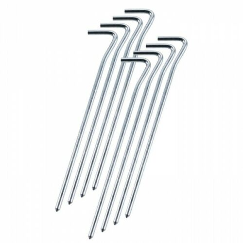 Rockland Pin Tent Peg 26 cm x 5 mm pack 10 Steel Lightweight Camping Pegs Turf
