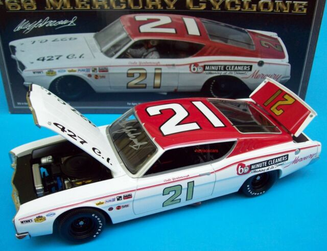 Cale Yarborough 1968 Mercury Cyclone #21 Wood Brothers 1/24 Signed Autograph New
