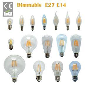 Dimmable-E27-E14-2-4-6-8-12W-LED-Edison-Bombilla-de-luz-de-filamento-retro