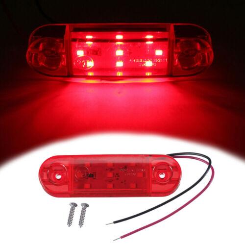 9-LED 10-30V Side Marker Light Indicator Lamp Truck Trailer Caravan Lorry Van 1W