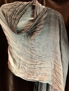 Grey-Ombre-Scarf-Crinkled-And-Self-Tassels-26x69-By-Express-Ships-Free-In-USA