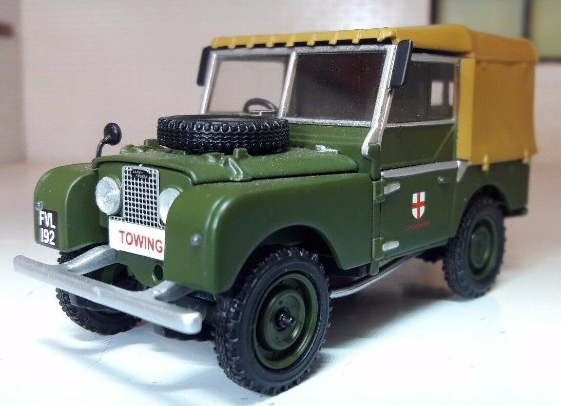 1 43 Scale 1953 Land Rover Series 1 80  Canvas Corgi Vanguards Diecast Model