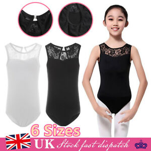 Girls Lyrical Ballet Dress Kids Leotard Gym Dance Wear Tutu Dancing Costume UK