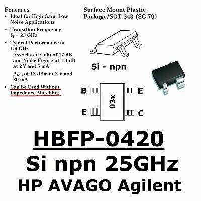 Gewissenhaft 10x Hbfp-0420 Avago Agilent ( =bfp420) 25ghz Si-npn Lna Transistor 17db@1800mhz Hochglanzpoliert