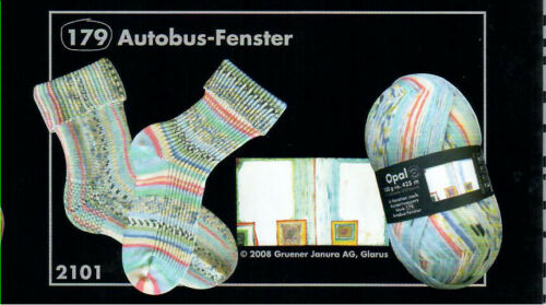 "2101 Opal Strumpf-//Sockenwolle /""Hundertwasser/"" je 100g Fb"