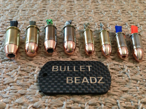 45 ACP /& 9mm Bullet Beadz Jewelry Pendant made from Winchester Federal Remington
