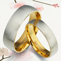 Matt Men Women 18K Gold Wedding Titanium Rings GM089 (1 Ring Price)