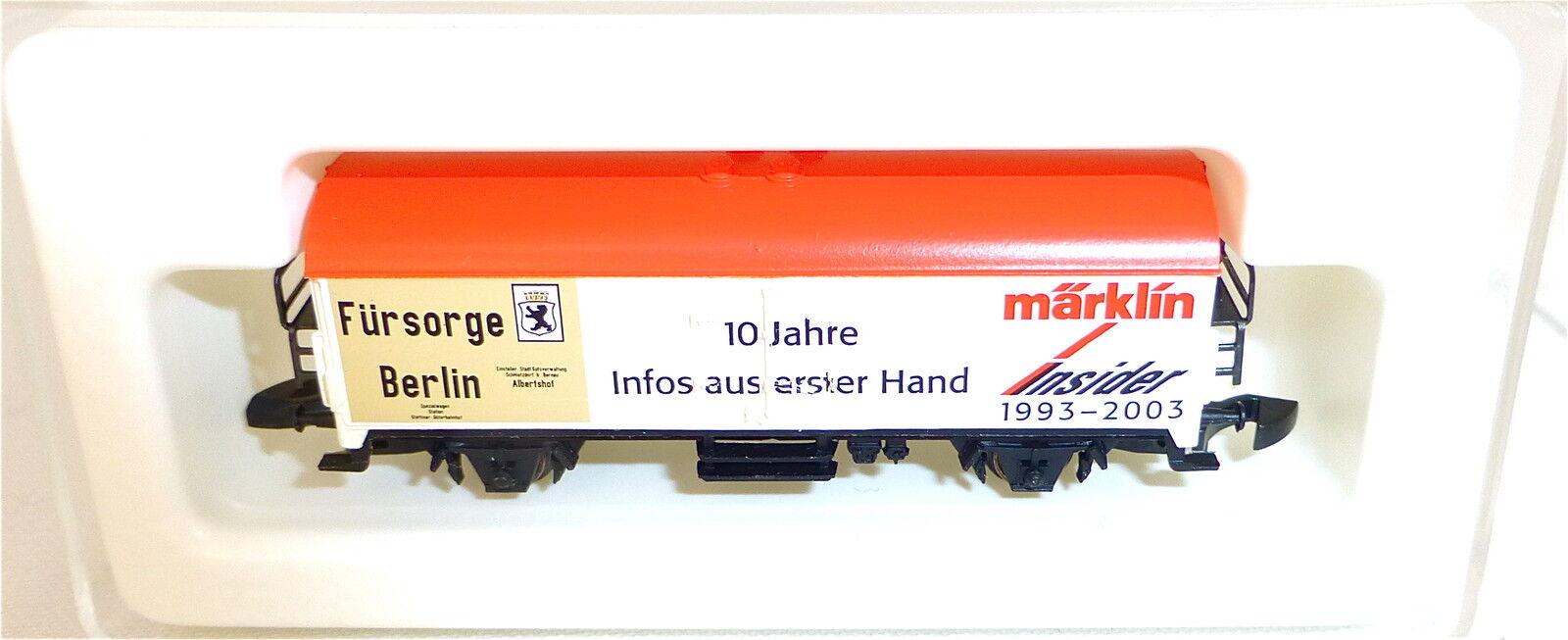 Fürsorge Berlin 10 J.Initié 1993-2003 Mini-Club Märklin Voie Z 1 220