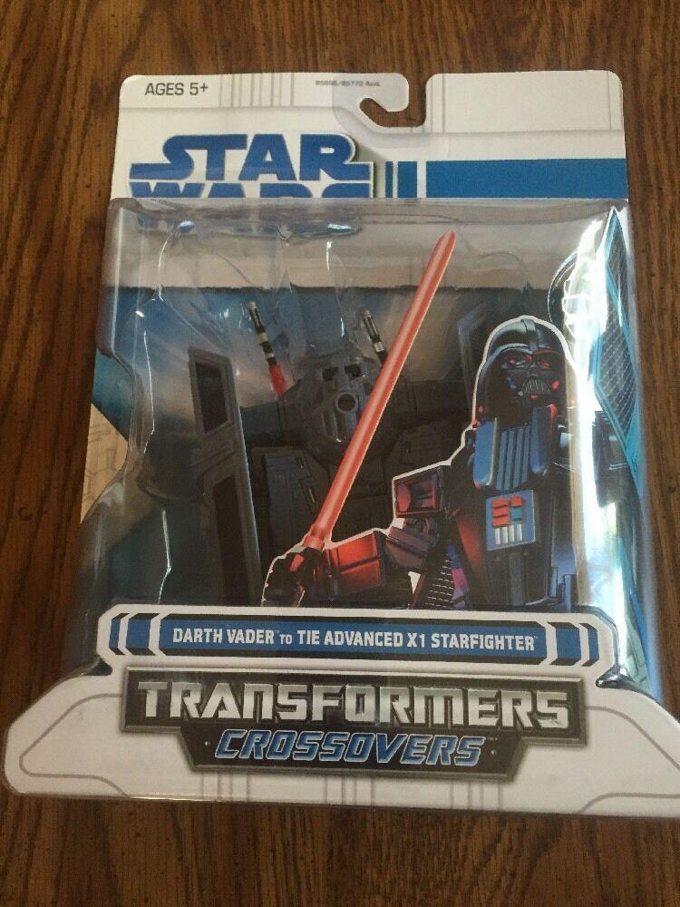 2008 Star Wars Transformers Darth Vader To Tie Advanced X1 Starfighter