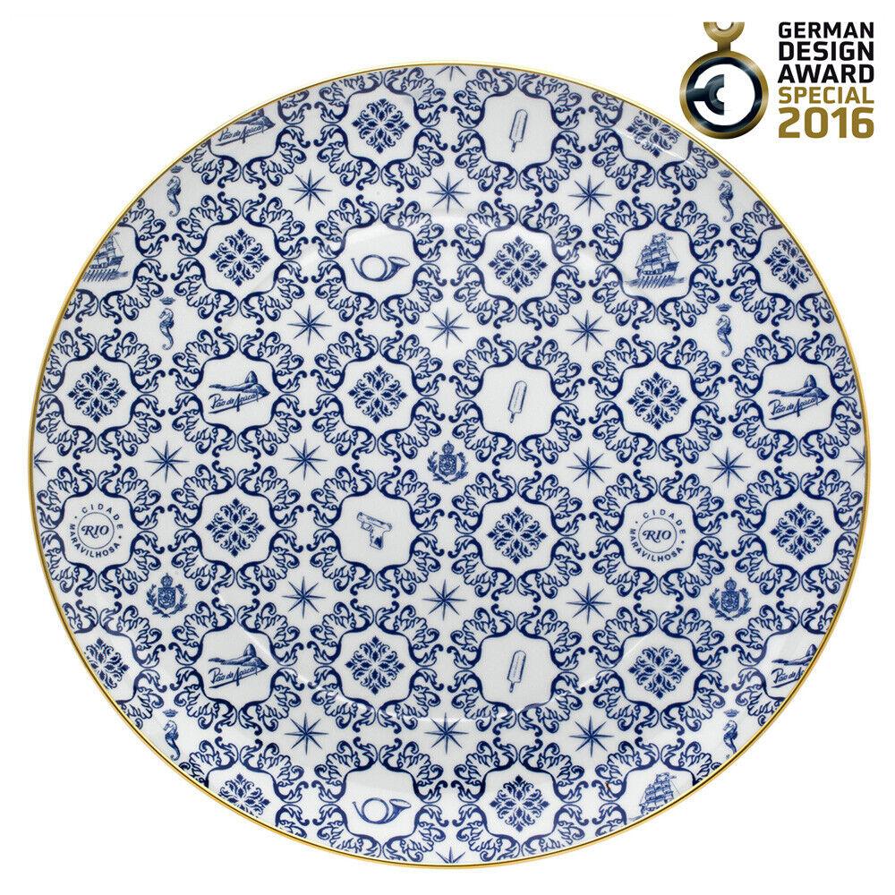 Vista Alegre porcelaine transatlantica Chargeur Plaque XL-Lot de 4