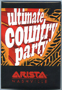 ULTIMATE-COUNTRY-PARTY-2000-rare-promo-MAGNET-U-S-ARISTA-Nashville
