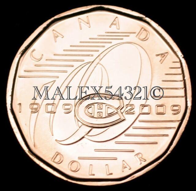 2009 1$ MONTREAL CANADIENS LOONIE UNC