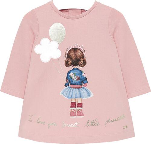 Mayoral Baby Mädchen Sweat-Kleid langarm Gr 68-98 Winterkleid Serigraphie