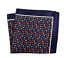 Umberto Algodon Napoli Men/'s Navy Blue Colorful Floral Pocket Square