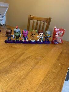 2020-Marvel-Studios-Heros-Avengers-McDonald-039-s-Toys-Lot-of-7-Vision-Hulk-Groot