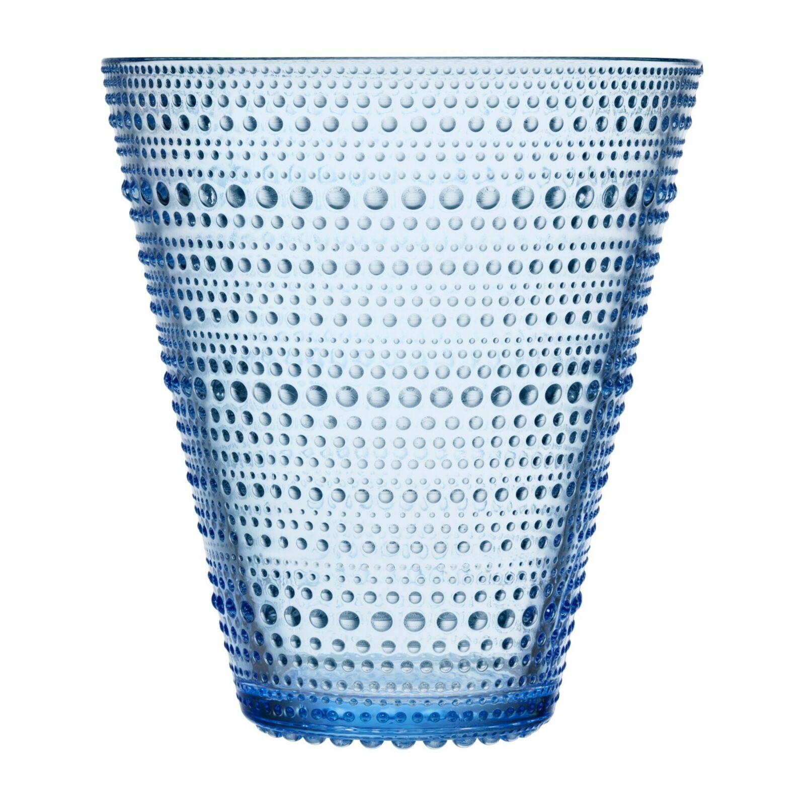 Iittala Kastehelmi Oiva Toikka Vase Aqua Blau 15.4 cm