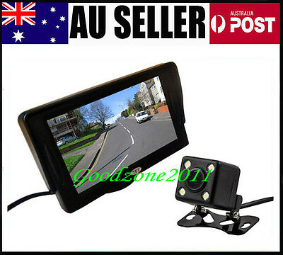 "4 LED Waterproof  Reversing Camera 170º   + 4.3"" LCD Monitor Car Rear View  Kit"