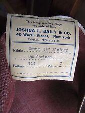 Vintage Denim Red & Ivory Woven Fabric Antique Erwin BluSurf Sanforized 7 yards