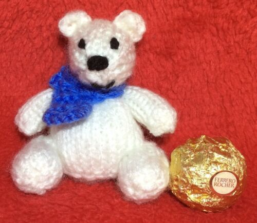 Polar Bear chocolate cover fits Christmas Ferrero Rocher KNITTING PATTERN