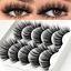 5-Pairs-6D-Mink-False-Eyelashes-Nature-Cross-Soft-Long-Eye-Lashes-Extension-ss miniature 2