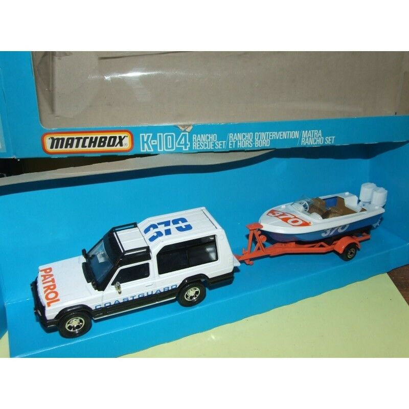 TALBOT RANCHO COASTGARD avec son Bateau MATCHBOX K-104 1 32