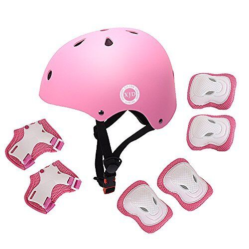 Color : Pink Yesbaby 6pcs//Set Kids Children Sports Protective Gear Set Knee Elbow Pads Wrist Guards for Cycling Skateboard Skating