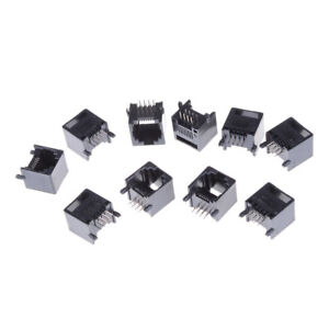 10Pcs Unshielded RJ11 RJ45 8P8C Network Modular PCB Connector Jacks Pop.\
