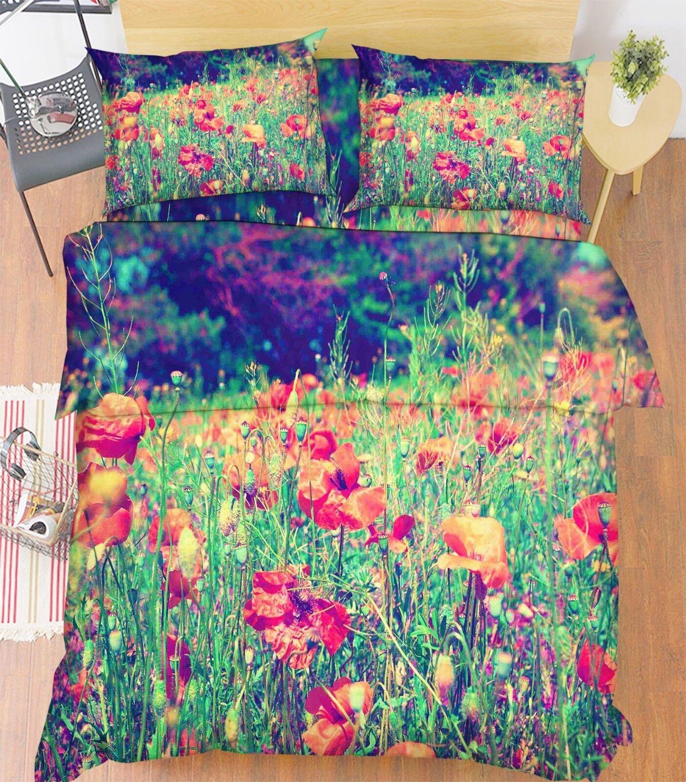 3D Flowers Leaves 685 Bed Pillowcases Pillowcases Pillowcases Quilt Duvet Cover Set Single King UK Lemon 07d2e7