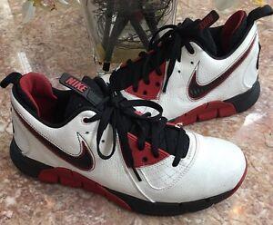 NIKE Zoom MVP Men's White Black Varsity-Red Sneaker Size 11 344337-101 EUC