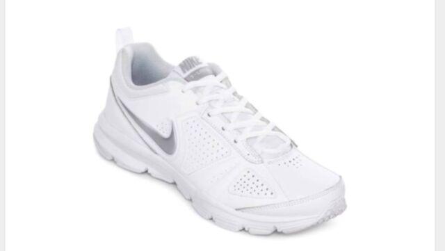 Nike Womens T-Lite XI Sz 6 White Leather Cross Training Shoes 616696 101 New $60