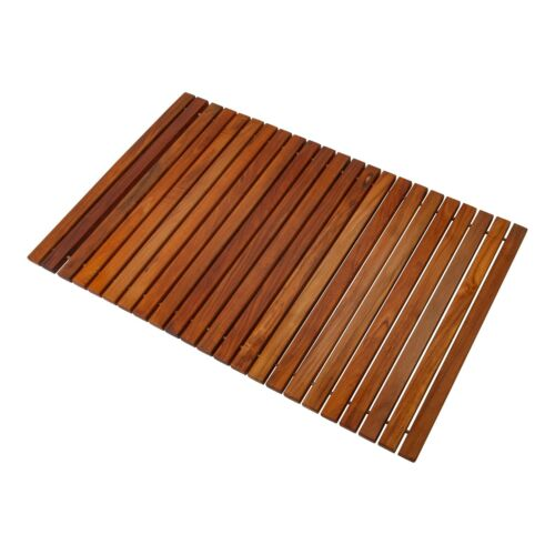 "Oiled Teak Wood String Shower//Bath//Outdoor//Indoor Spa Mat 31.4/"" x 19.6/"""