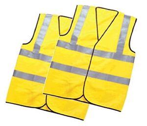 High-Viz-Vest-x-2-Waistcoats-Adult-Size-Double-High-Viz-Band-CE-Approved