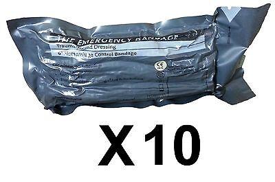 "Lot 10 Military 6"" Inch Israeli Compression Bandage IFAK EMT Emergency Dressing"