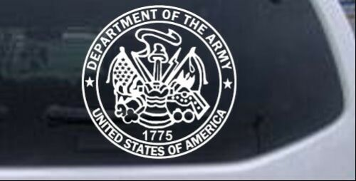 Department Of The Army Seal  Car Truck Window Laptop Decal Sticker White 6X5.9
